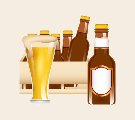 cold beer design Vector