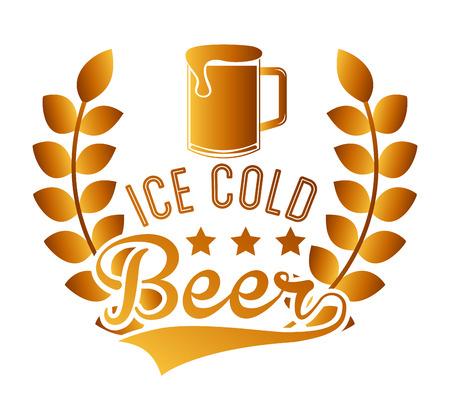 cold: cold beer design Illustration
