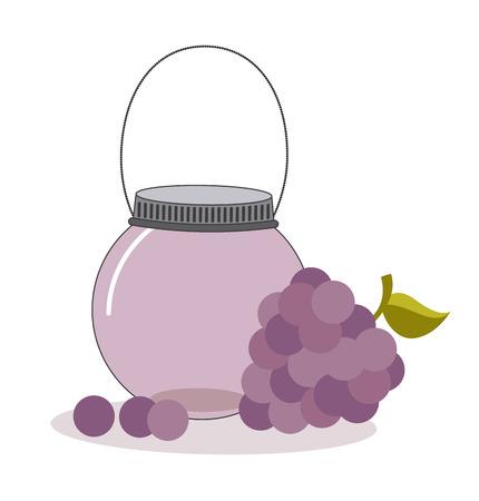 mason: fruit mason jar design, vector illustration eps10 graphic