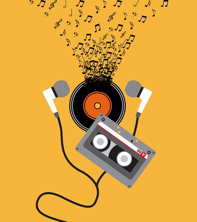 arte abstracto: diseño de concepto de música, ilustración vectorial gráfico eps10