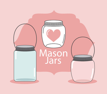 mason: jar mason design, vector illustration     Illustration
