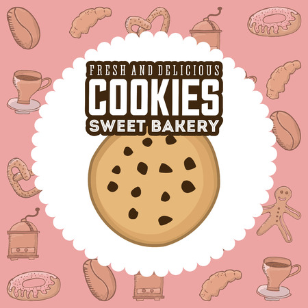 cookies: delicious cookies design, vector illustration eps10 graphic Illustration