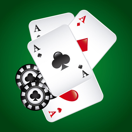 ace of club: poker game  design, vector illustration   Illustration