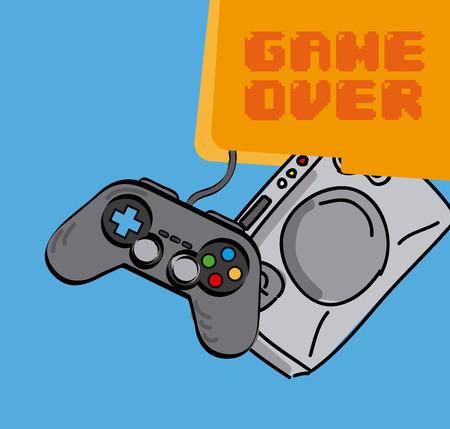 video games: video games design, vector illustration