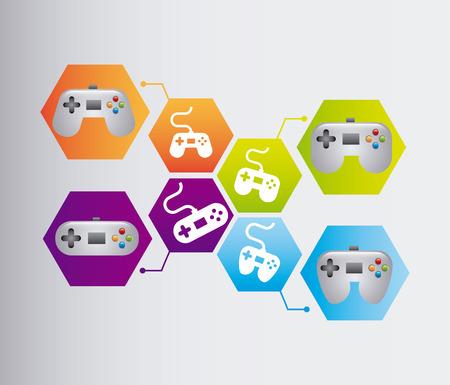 video games: video games design, vector illustration  Illustration