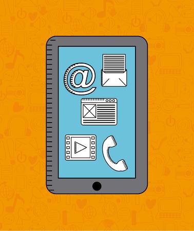 digital: digital marketing design  Illustration