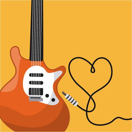 electric wire: music concept design Illustration