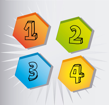 numbers: numbers icons design