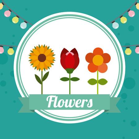 garden design: disegno del giardino di fiori