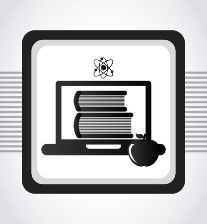 school computer: back to school design    Illustration