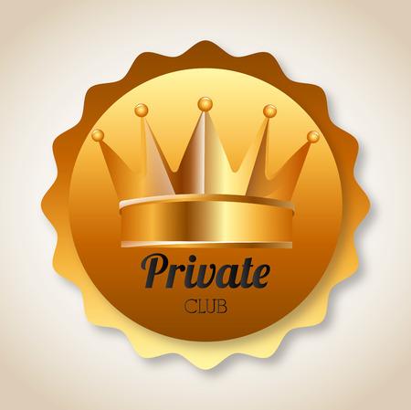 private club: vip emblem design     Illustration