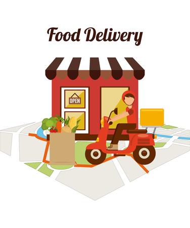 Ontwerp voor voedselbezorging Stockfoto - 40936591