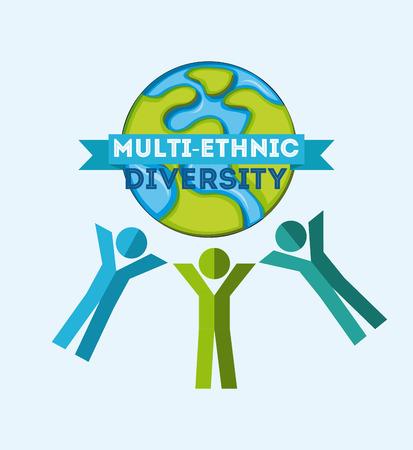 multiethnic: multiethnic diversity design Illustration
