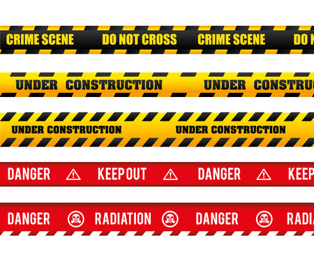 under construction sign: Danger design over white background, vector illustration.