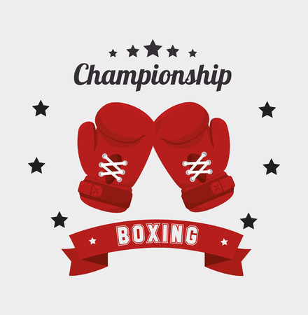 guantes de box: Diseño de boxeo sobre fondo blanco, ilustración vectorial.
