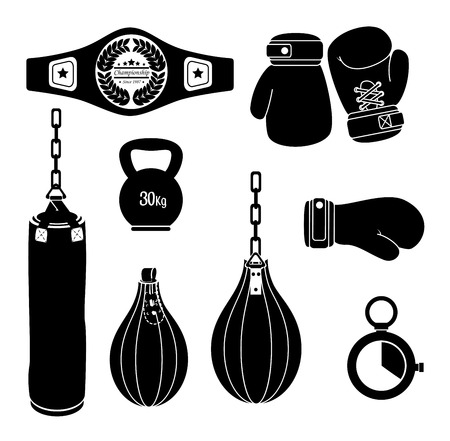 boxing sport: Boxing design over white background, vector illustration.