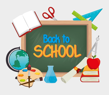 Back to school graphic design, vector illustration. Ilustracja