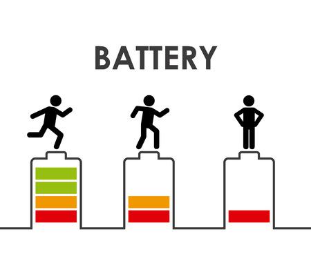 loaded: battery power design, vector illustration eps10 graphic