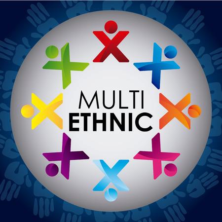 multiethnic: multiethnic diversity design, vector illustration   Illustration