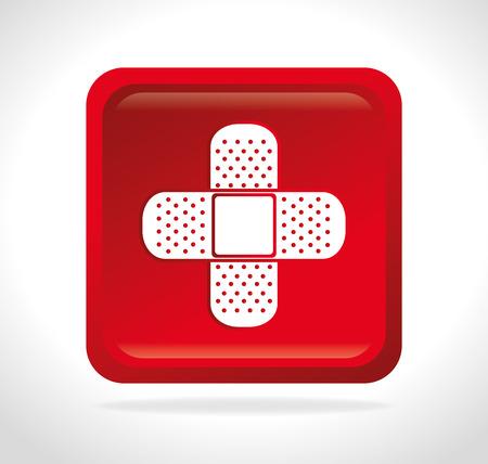 band aid: Medical design over white background ,vector illustration.