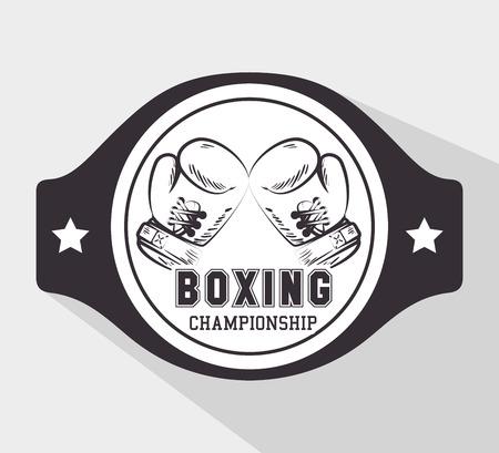 boxing: Boxing design over white background, vector illustration.