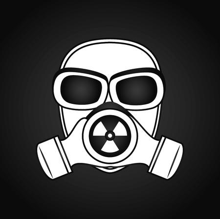 restricted access: Danger design over white background, vector illustration.