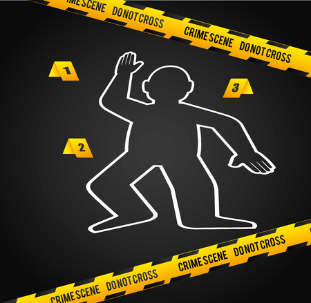 hazard tape: Danger design over white background, vector illustration.