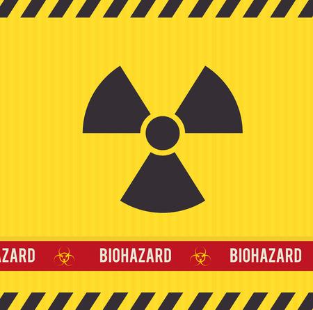 hazard tape: Danger design over yellow background, vector illustration.