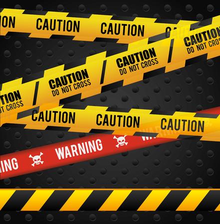 danger do not cross: Danger design over black background, vector illustration.
