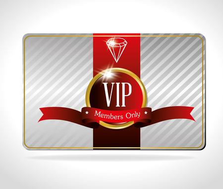 deluxe: VIP design over white background, vector illustration. Illustration