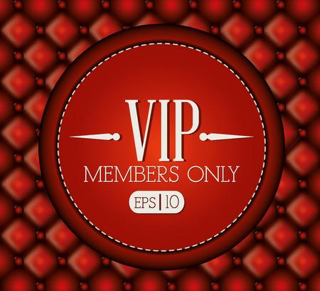 VIP design over red background, vector illustration.