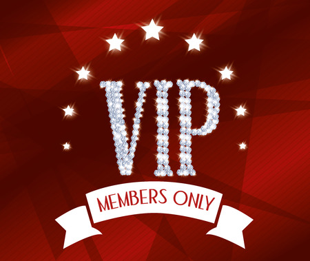 ad board: VIP design over red background, vector illustration.