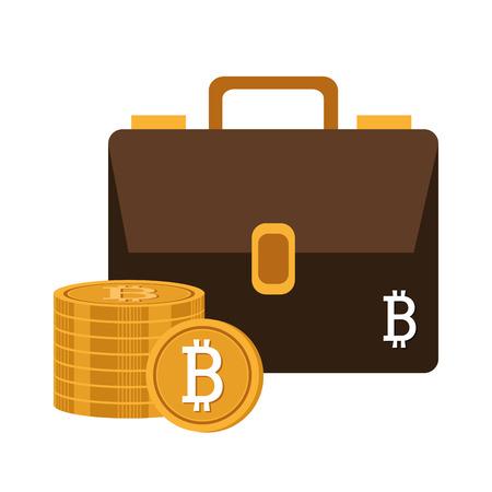 million: Bitcoin design over white background, vector illustration. Illustration