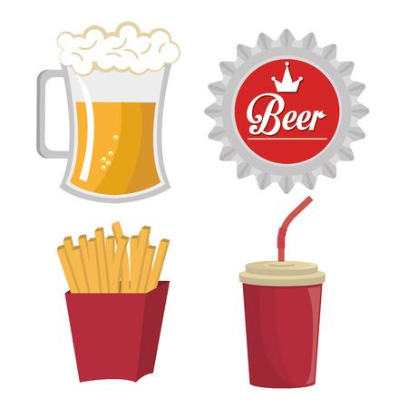 aliment: Fast food design over vintage background, vector illustration. Illustration