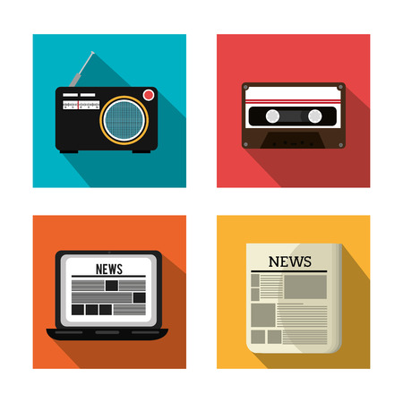 journalism: Journalism design over white background, vector illustration.