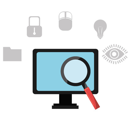 seach: Software design over white background, vector illustration. Illustration