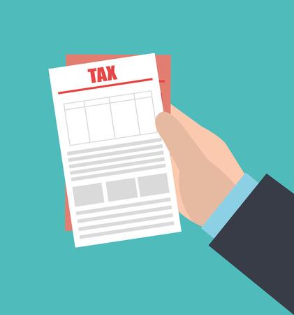 Tax design over blue background ,vector illustration.