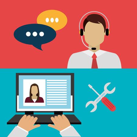 Customer design over white background, vector illustration.