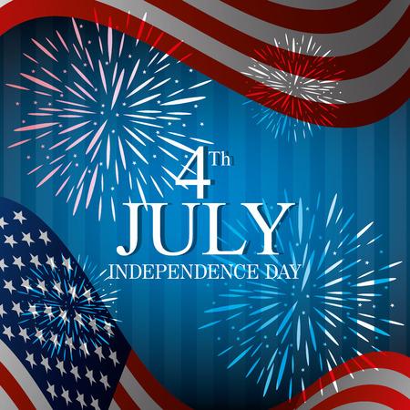USA design over blue background, vector illustration. Illustration