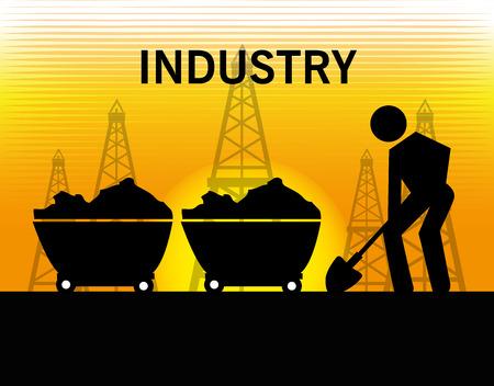 enviroment: Industry design over yellow background, vector illustration. Illustration