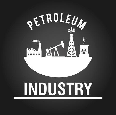 enviroment: Industry design over black background, vector illustration.