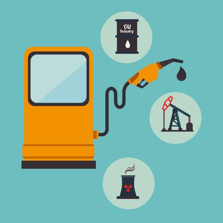 enviroment: Industry design over blue background, vector illustration.