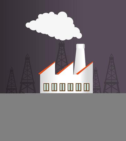 enviroment: Industry design over gray background, vector illustration.