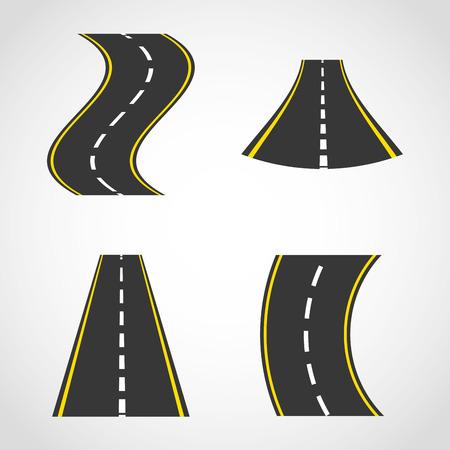 driveway: road concept design, vector illustration   Illustration