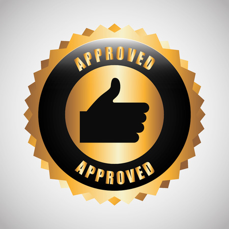 seal: seal of approval design, vector illustration