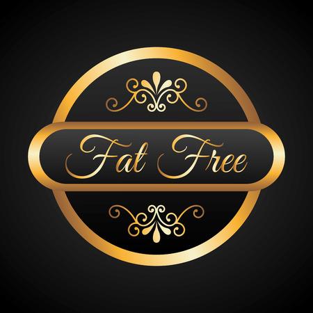 lowfat: fat free design, vector illustration