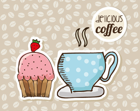 coffee time design, vector illustration   Illustration