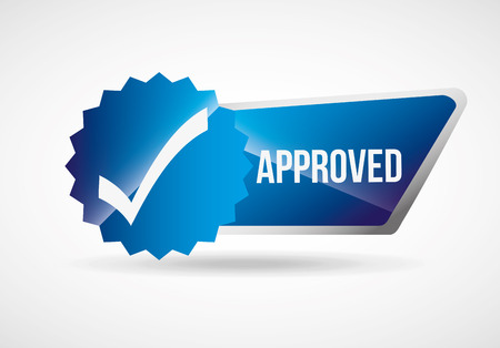 approved seal design, vector illustration