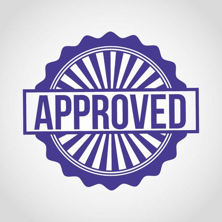 approval label: seal of approval design, vector illustration
