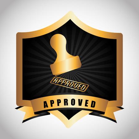 seal of approval design, vector illustration